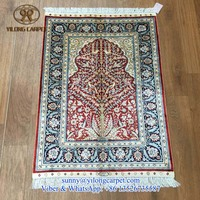 oriental 2x3ft red small handmade prayer carpet china handknotted persian tree of life silk area rugs on sale