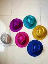 PVC plastic blister hat Gold dust plastic cowboy hat Festival hat party supplies