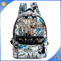 funky school bags fashion leather haversack backpacks