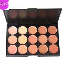 A prueba de agua etiqueta privada Mineral fundación del maquillaje 15 colores paleta contorno corrector