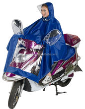 waterproof adult electromobile scooter poncho with plastic rain hat