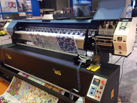 Direct Dye Sublimation Digital Inkjet Textile Printer and Heater,1900mm Flag making machine