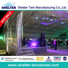 Luxury drapes curtains tent decoration in wedding tent for sale