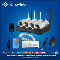 hot sale 4 x 720P 1.0MP IP Camera + 4ch NVR kit Network video Recorder security camera system Kit