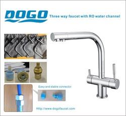 Jiangmen faucet factory chromed purified water kitchen faucet mixer