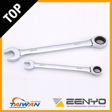 Made in Taiwan Drop Forged 3/8 Inch CRV Chrome Plated Combination Ratchet Wrench