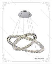 2015 best selling double ring star modern crystal led pendant lights