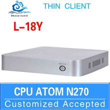 Fanless Design Linux computer Mini itx case Mini pc 2 lan L18Y N270 support Windows 7, WIFI, Webcam, HDMI