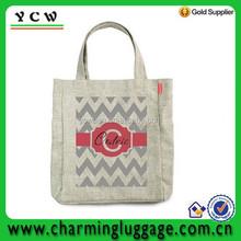 Watch chevron shaped cotton craft shopping bags