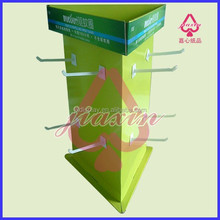 Rotating 4 Color Offset Printing Corrugated Carboard Counter Display Shelf For Keychain