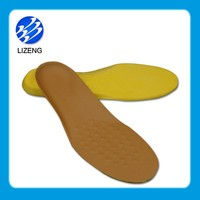 Massage customized pu upper shoe insole material and pu insole with leather cover