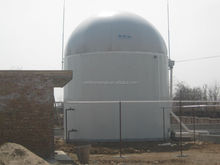 generating electricity from biogas digestion reactor storage tank