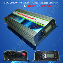 2000W Micro Solar Inverter With MPPT Function and LCD Display, On Grid Inverter DC 45V-90V Input 2KW