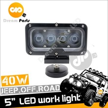9-48v DC Rectangle 5inch 40w led driving light for truck jeep offroad