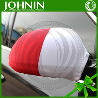 hot sale racing car and football soccer club or country flags printing rear view mirror cover