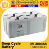 Multiple functions Green energy deep cycle 2v 3000ah high power battery