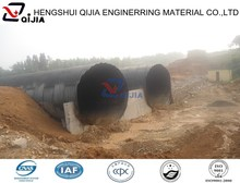 large diameter corrugated steel culvert, half circle galvanized corrugated steel pipe