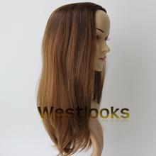 Unprocessed Mongolian Virgin Remy Hair Jewish Kosher Wig Topper