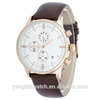 High quality vogue chronograph watch , analog quartz leather chronograph watch , waterproof chronograph watch