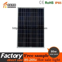 China factory price new Energy resources 80w polysilicon solar panels with ce rohs