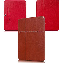2015 new design flip stand leather cover case for ipad 4 with smart wake up