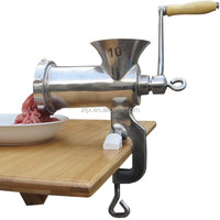 house hold stainless steel manual meat grinder 10#