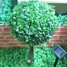high quanlity plastic tree led solar light garden decoration