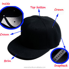 Design Your Own Funny Flat Brim Cheap Baby Hat Snapback Cap / Trufit Cap