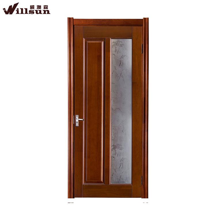 Soundproof Interior Frosted Glass Wood Study Room Door Wood Framed Glass Doors Price Buy