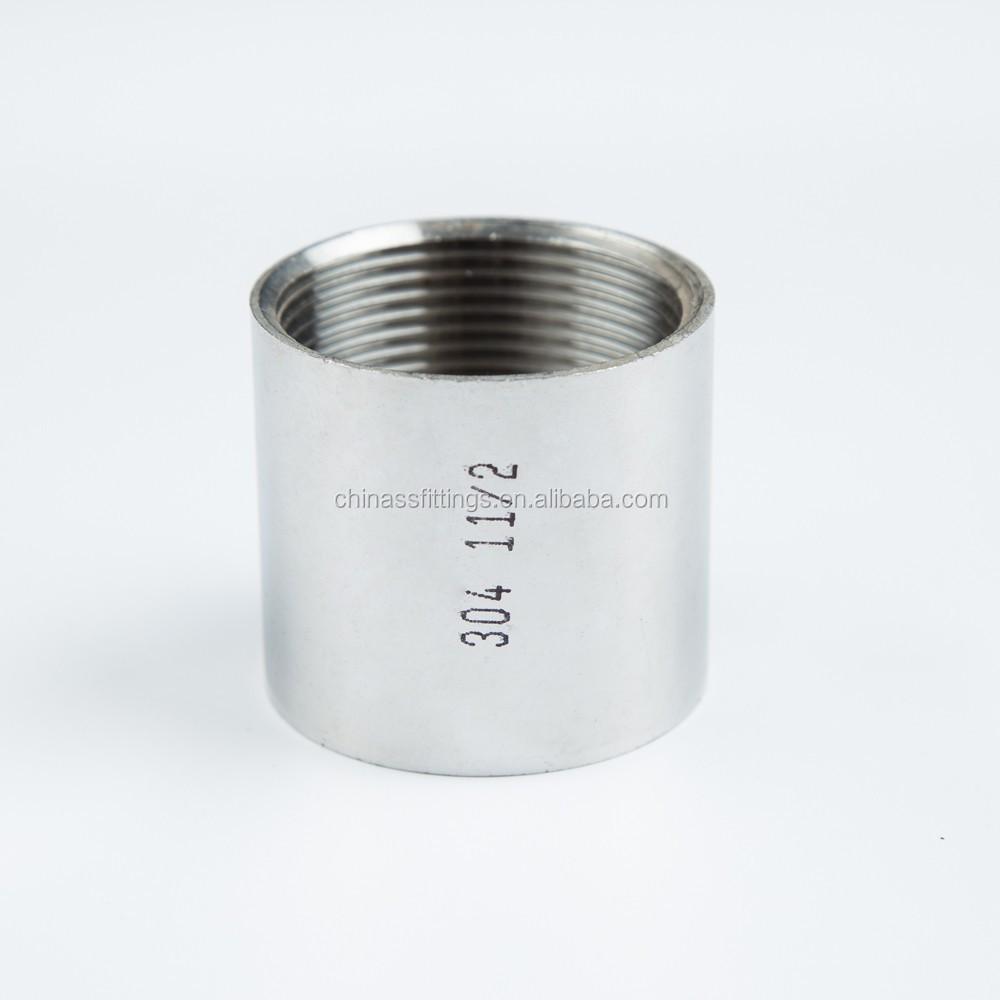 Stainless Steel Threaded Couplers : Stainless steel threaded fittings full coupling buy