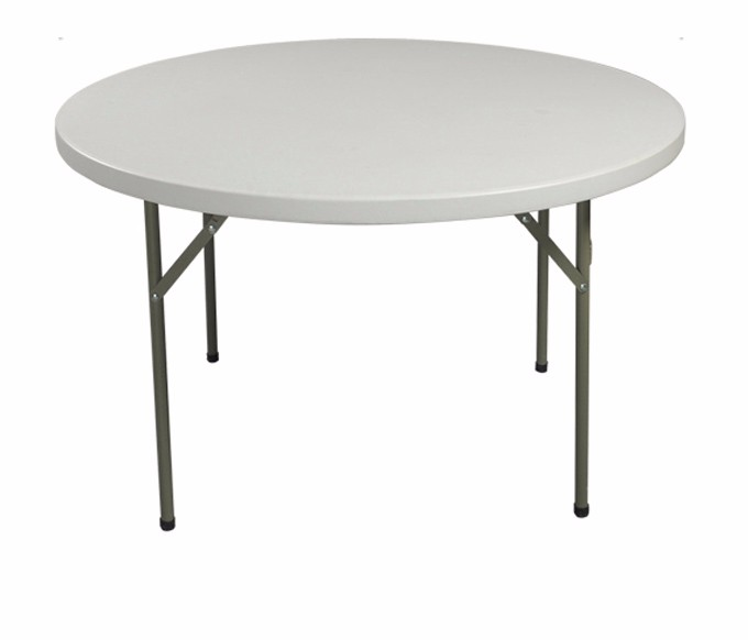 High Quality Cheap White Plastic Folding Round Table For