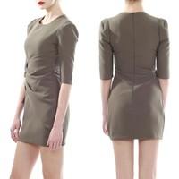 Custom Design Ladies Half Sleeves Wrap Dress Autumn Modern Slim Mini Dress