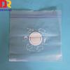 Resealable plastic ziplock bag with logo printed