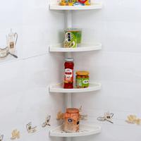 1858 SQ bathroom corner shampoo shelf 4-tier storage basket stainless steel kitchen storage rack