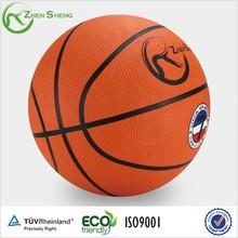 Zhensheng 7 rubber basketball with customer's logo printing