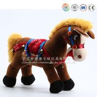 Lifelike pony soft fabric plush riding horse toy