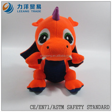 flying orange plush sitting dinosaur/dino, Customised toys,CE/ASTM safety stardard