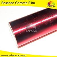 Carlas high quality chrome wrap film with brushed chrome