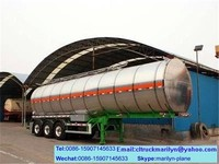 65m3 tank crude oil transport tanker trailer used fuel tankers for sale