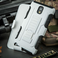 2015 New!Trade Assurance Wholesale protective case for samsung galaxy note 3 case,for galaxy note 3 Armor Holster Combo case