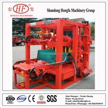 QT4-26 manual concrete hollow block mold, semi automatic machine for make bricks, concrete blocks