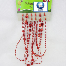 yiwu fashion hanging plastic bead chain for Chritmas tree ornament