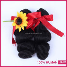 High quality raw unprocessed remy hair extension no chemical most fashionable peruvian loose wave hair