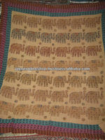Reversible Vintage Kantha Quilt and Rugs