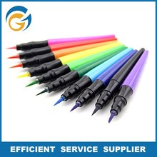 Water Based Multi Color Fluorescent Marker Pen With Brush