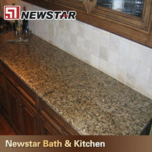 China Best Seller Beautiful Yellow butterfly beige granite countertops