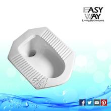 High quality washdown public wc skid resistance ceramic squating pan