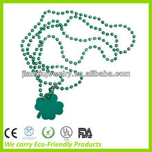 Grass green plated promotional plastic necklace