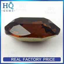 crystal gems flat back sew-on glass stone oval coffee