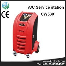 A\/C work vehicle air conditioning service station with ce